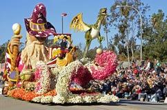 Rose Parade Imagination Float Royaltyfria Foton
