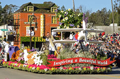Rose Parade Inspiring Float Fotografia Stock