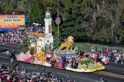 Rose Parade on New Years celebration Royalty Free Stock Photo