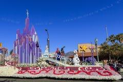 Rose Parade på Pasadena, Kalifornien, USA - Januari 1, 2016 arkivfoto