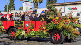 Rose Parade at Pasadena, California, USA - January 1, 2016 Stock Photo