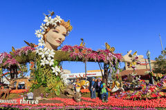 Rose Parade at Pasadena, California, USA - January 1, 2016. Pasadena, California, USA - January 1, 2016: Superb Tournament of the famous Roses Parade - America's Stock Photography