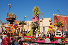 Rose Parade Pasadena Dino Float Royalty Free Stock Photography