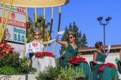 Rose Parade in Pasadena, Kalifornien, USA - 1. Januar 2016 lizenzfreie stockfotos