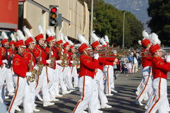 Rose Parade Pasadena marching band Royalty Free Stock Photo