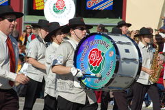 Rose Parade Pasadena marching band Royalty Free Stock Photography