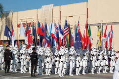 Rose Parade Pasadena Star War Theme Stock Photos