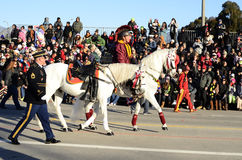 Rose Parade Riderless Horse. An image of the riderless horse representing the late Louie Zamperini who was slated to be the grand marshall of the 2015 Rose Royalty Free Stock Photo