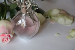 Rose and Parfum Stock Images