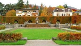 Rose Park in de herfst Baden Baden stock videobeelden