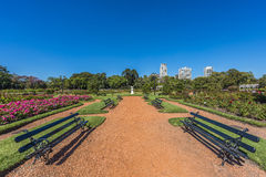 Rose Park On Palermo Woods In Buenos Aires. Royalty Free Stock Photos