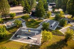 Rose Park Oschatz con Mini Golf Course Imagen de archivo libre de regalías