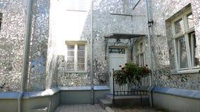 Rose Passage, costruzione di vetro di mosaico alla via di Piotrkowska, città di Lodz, Polonia Fotografie Stock Libere da Diritti