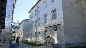 Rose Passage, costruzione di vetro di mosaico alla via di Piotrkowska, città di Lodz, Polonia Fotografia Stock