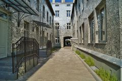 Rose passage in Lodz Royalty Free Stock Photography