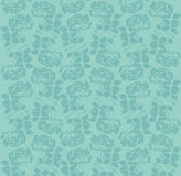 Rose pattern. Beautiful pattern with rose flowers on blue background, floral  illustration Stock Image