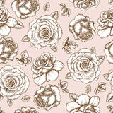 Rose pattern royalty free illustration
