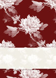 Rose Pattern Background Royalty Free Stock Photography
