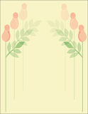 Rose Pattern Background. Six pink roses on warm yellow background Stock Photos