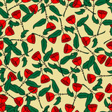 Rose Pattern Background Stock Images