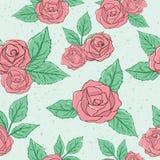 Rose Pattern d'annata Immagine Stock Libera da Diritti