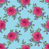 Rose Pattern d'annata Fotografia Stock