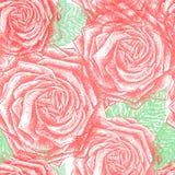 Rose Pattern d'annata senza cuciture, vettore, EPS10 Fotografie Stock Libere da Diritti