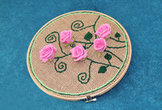 Rose Pattern Embroidery Photographie stock