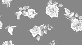 Rose Pattern floral sem emenda no estilo da aquarela ilustração royalty free
