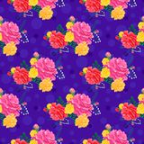 Rose pattern5 inconsútil lindo Fotografía de archivo