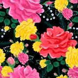 Rose pattern-01 inconsútil lindo Imagen de archivo