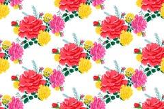 Rose pattern66-01 inconsútil lindo Fotos de archivo libres de regalías