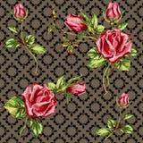 Rose pattern on motley Stock Photo