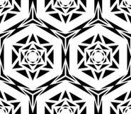 Rose Pattern noire géométrique Photographie stock