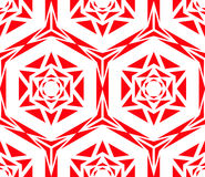 Rose Pattern rouge géométrique Photos stock
