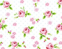 Spring Rose Pattern Royalty Free Stock Photo