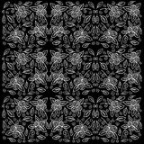 Rose pattern with sketch flowers and leafs. Royalty Free Stock Images