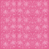 Rose pattern with sketch flowers and leafs. Stock Images