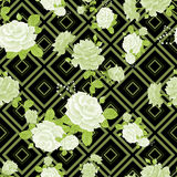 Rose pattern stripes3-01 Stock Images