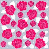 Rose pattern2. Illustration seamless vector background beautiful red roses Stock Photo