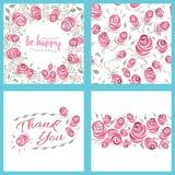 Rose Patterns y tarjetas elegantes lamentables Fotos de archivo libres de regalías