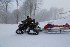 Rose Peak. The opening of the ski season at the Rosa Khutor Royalty Free Stock Image