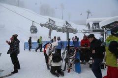 Rose Peak. The opening of the ski season at the Rosa Khutor Royalty Free Stock Photos