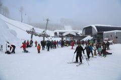 Rose Peak. The opening of the ski season at the Rosa Khutor Royalty Free Stock Photo