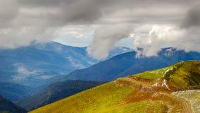 Rose Peak ski resort Caucasus views  mountains Krasnaya Polyana Royalty Free Stock Image