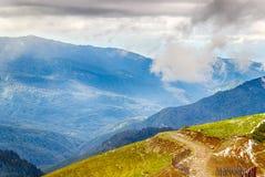 Rose Peak ski resort Caucasus views  mountains Krasnaya Polyana Stock Image
