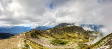 Rose Peak ski resort Caucasus views  mountains Krasnaya Polyana Stock Images