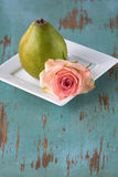 Rose and Pear Royalty Free Stock Photo