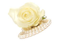 Rose and pearl Royalty Free Stock Photo