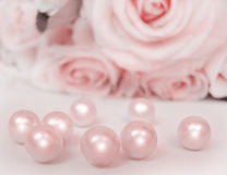 rose with pearls stock images